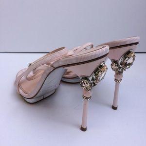 Oscar de la Renta Crystal-Embellished-Heel Sandal